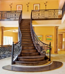 Forged Iron Staircase by Ken Roby
