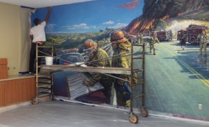 Firefighters Mural install