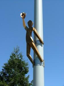 Centerfield sculpture