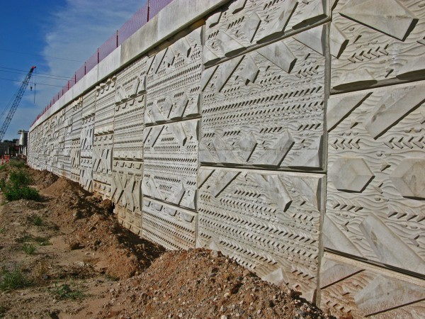 Wall under construction by Vicki Scuri