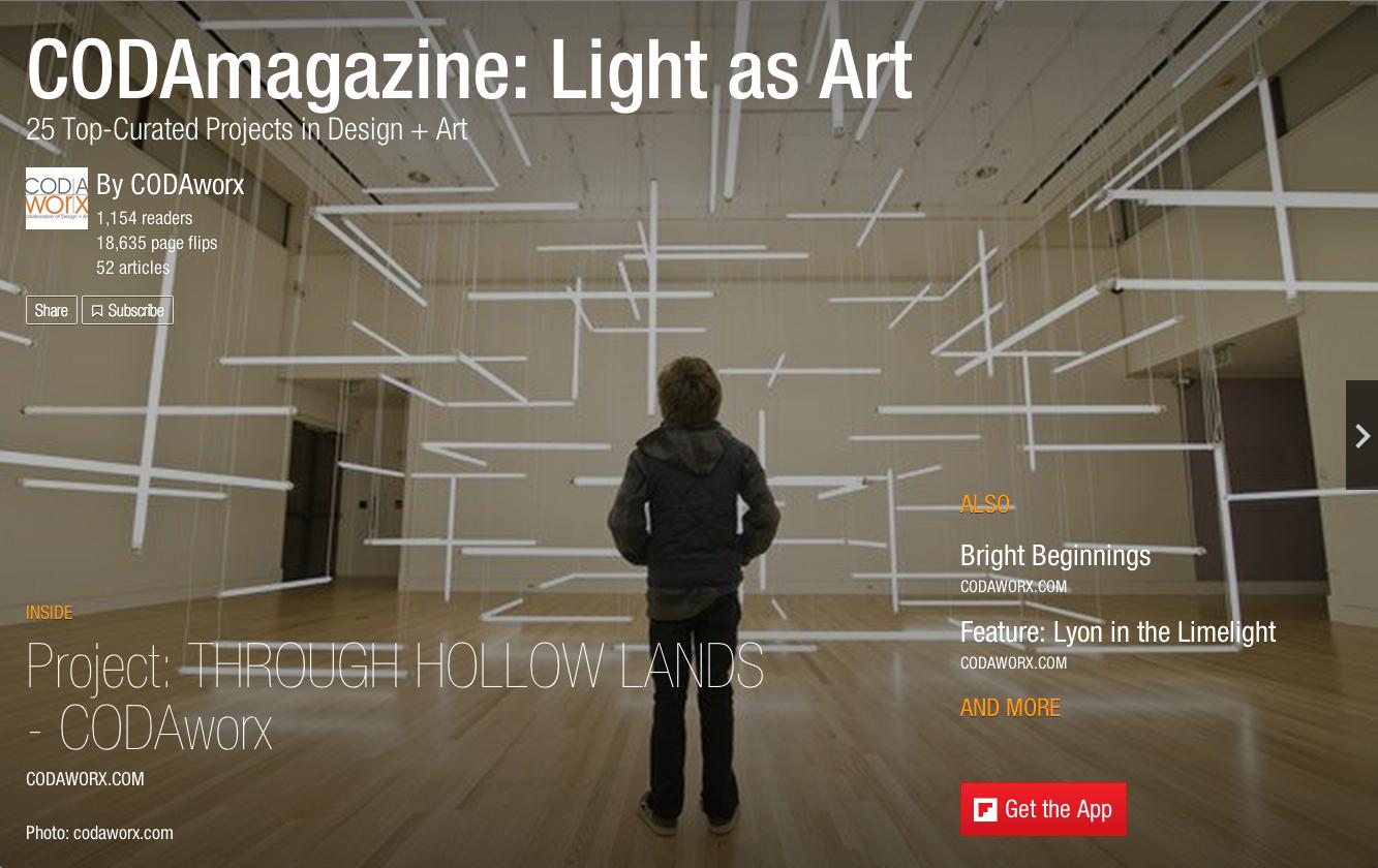 CODAmagazine Issue 1: Light as Art