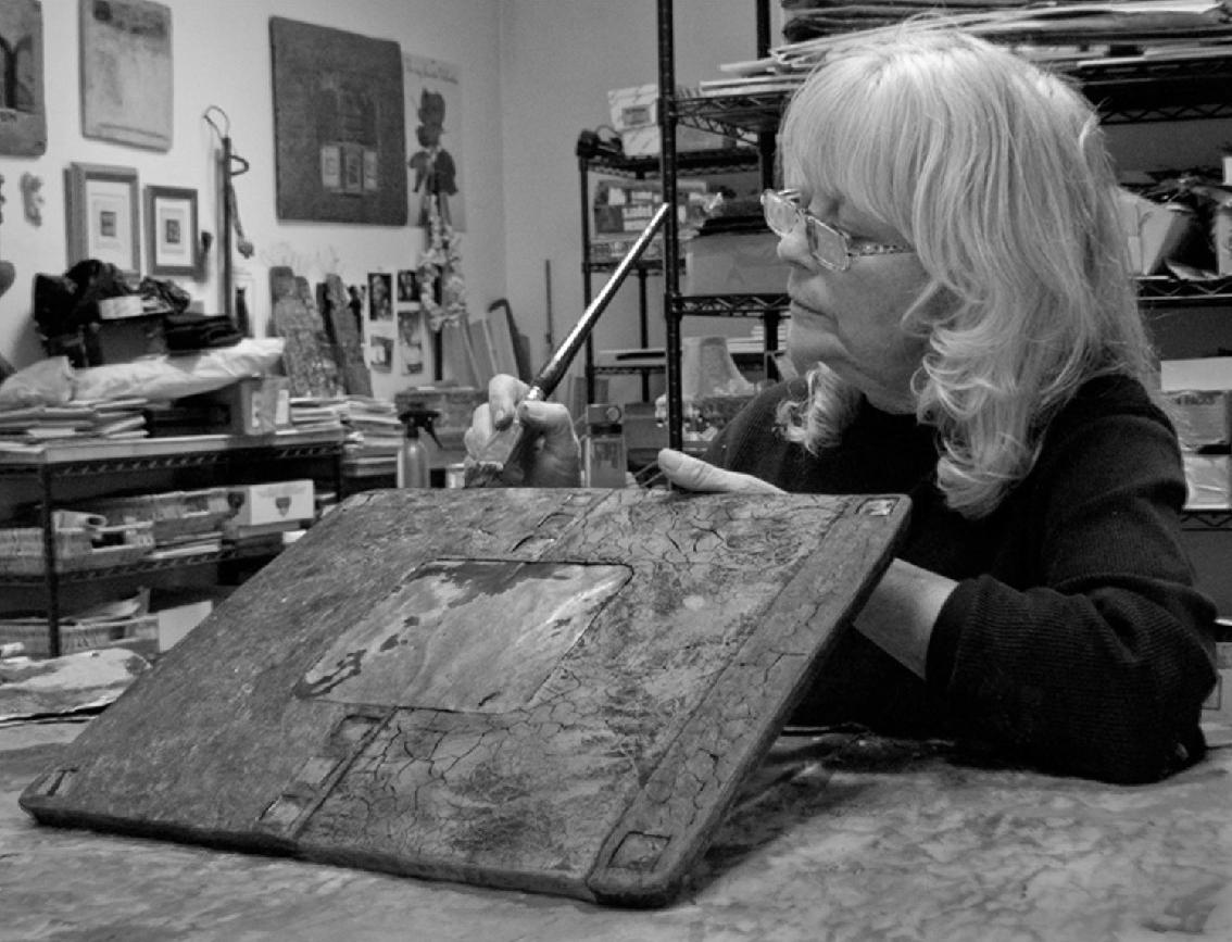 Artist Kara Young in her studio.