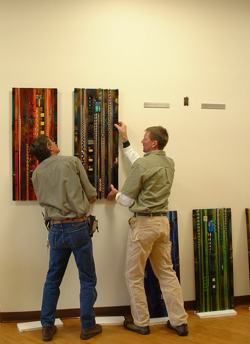 """""""Color Series with Canes"""" Glass Wall Panels"""