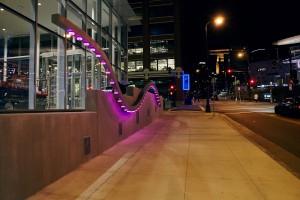 Sidewalk Harp by artist Jen Lewin