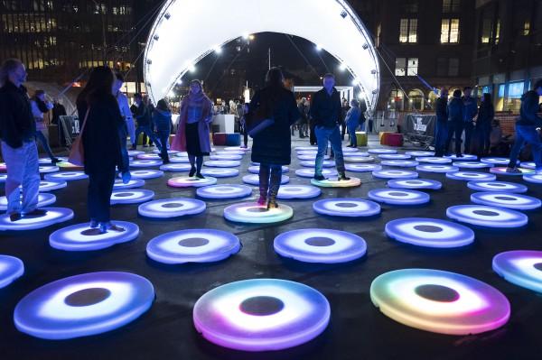 Interactive art installation, Jen Lewin Studio, New York City, NY