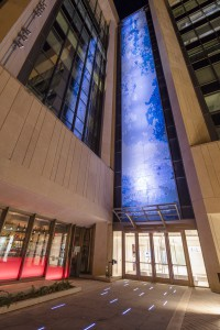 Mural with programmable lighting design, Modern Mosaics, Madison, WI