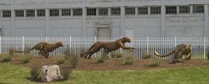 Cheetahs On The Run - Rosetta Sculpture