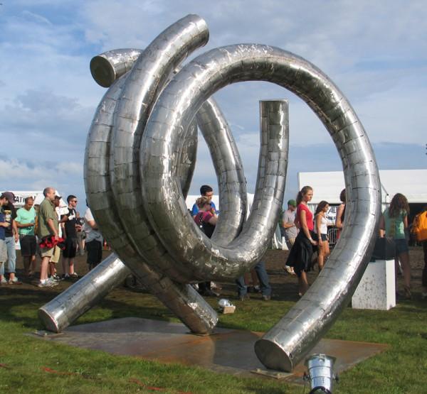 large-scale outdoor metal sculpture