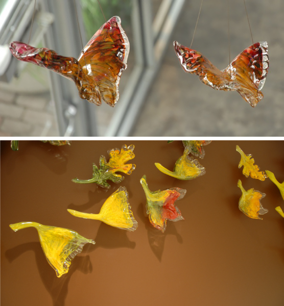 """"""" The Butterfly Effect"""" and """"Change of Seasons"""" details of the individual elements"""