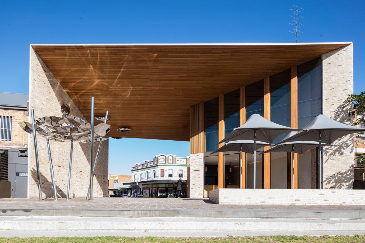 Clouds Gathering, Maitland Riverlink Building Public Artwork, NSW, Australia