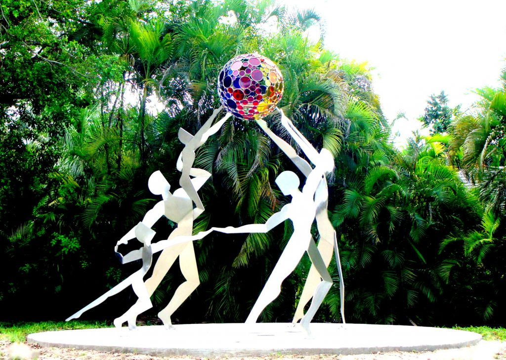 """ColorPlay"", Coral Springs, FL. One of a number of Canneto's lilting groups that use figures and geometry to build a sense of connection, collective hope and collaboration.  [photo credit: Canneto Studios]"
