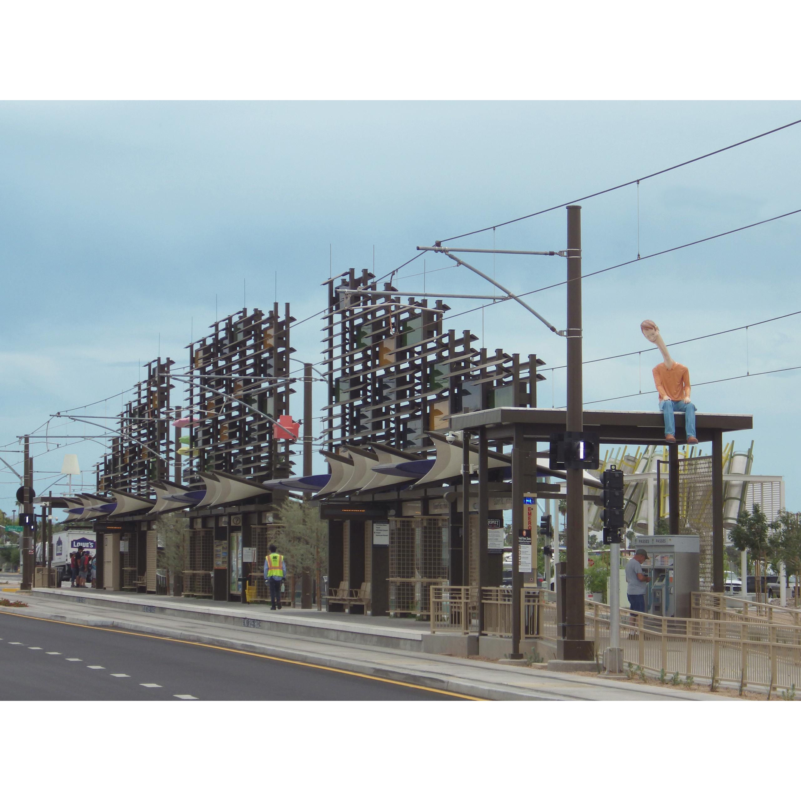 artworks for a new light rail station in Mesa, AZ