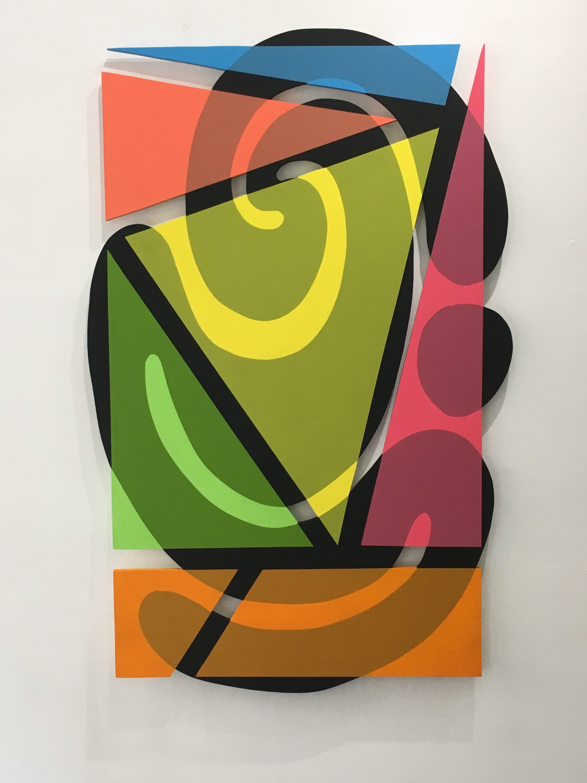 Shaped Paintings For Commercial Lobby