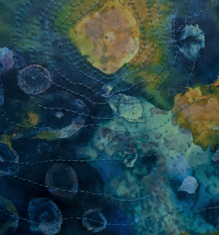 Surge (Diptych) Painting for Rutgers University
