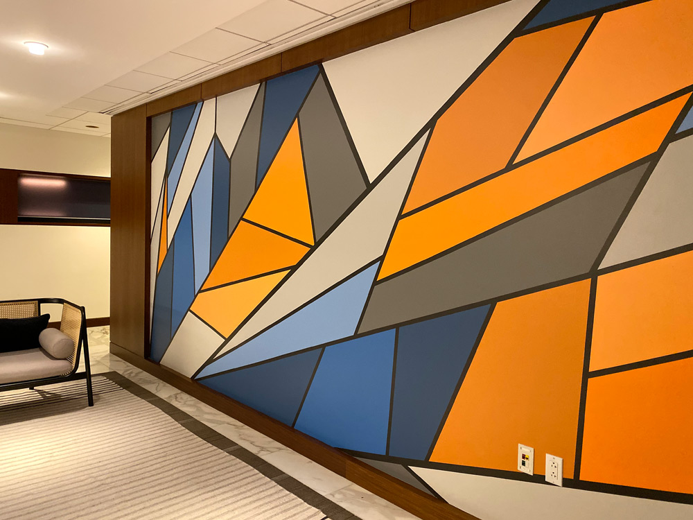 Abstract Mural for Office Reception