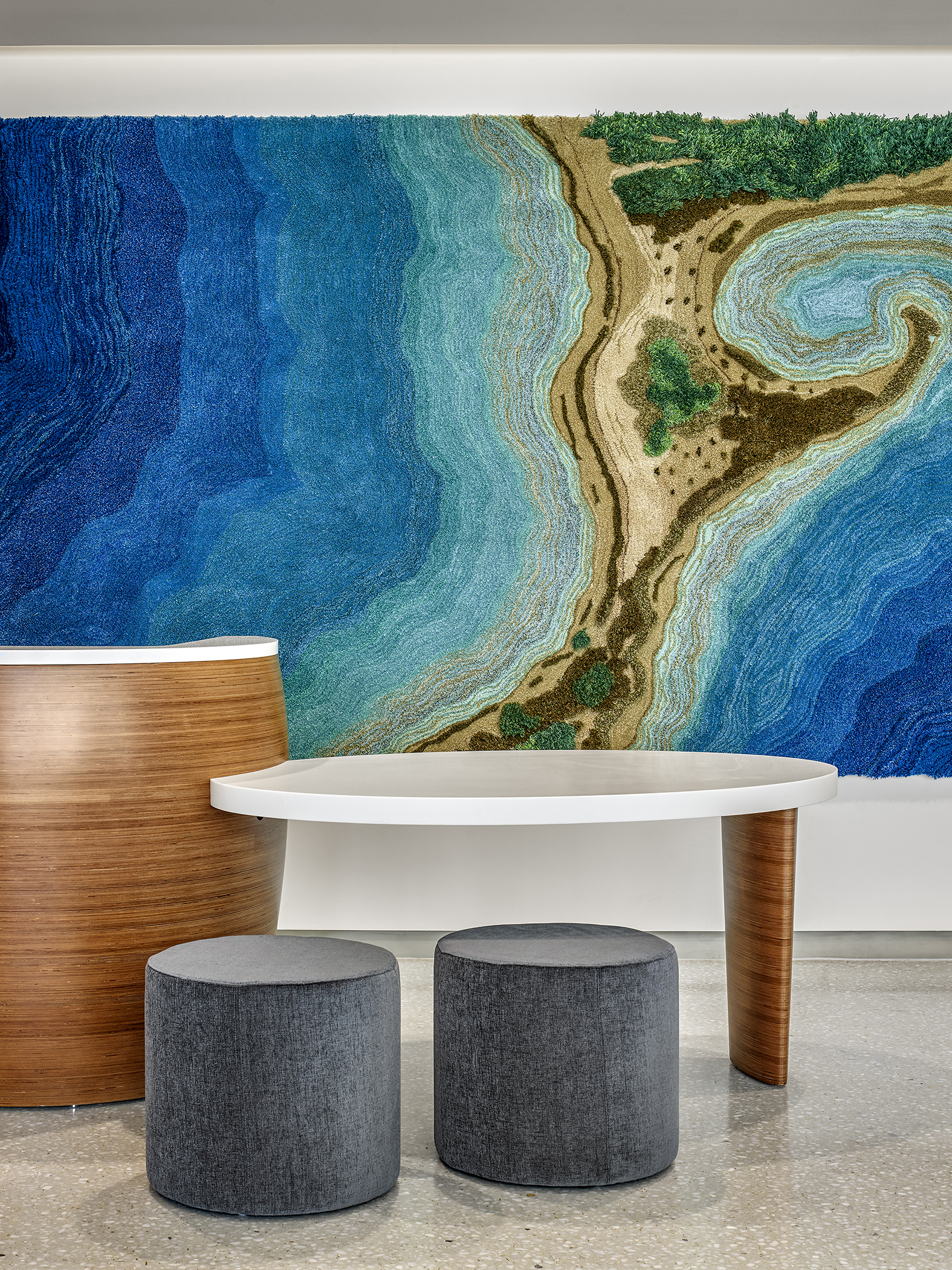 Long Island Tapestries, by Alexandra Kehayoglou for Memorial Sloan Kettering Nassau, Uniondale, NY