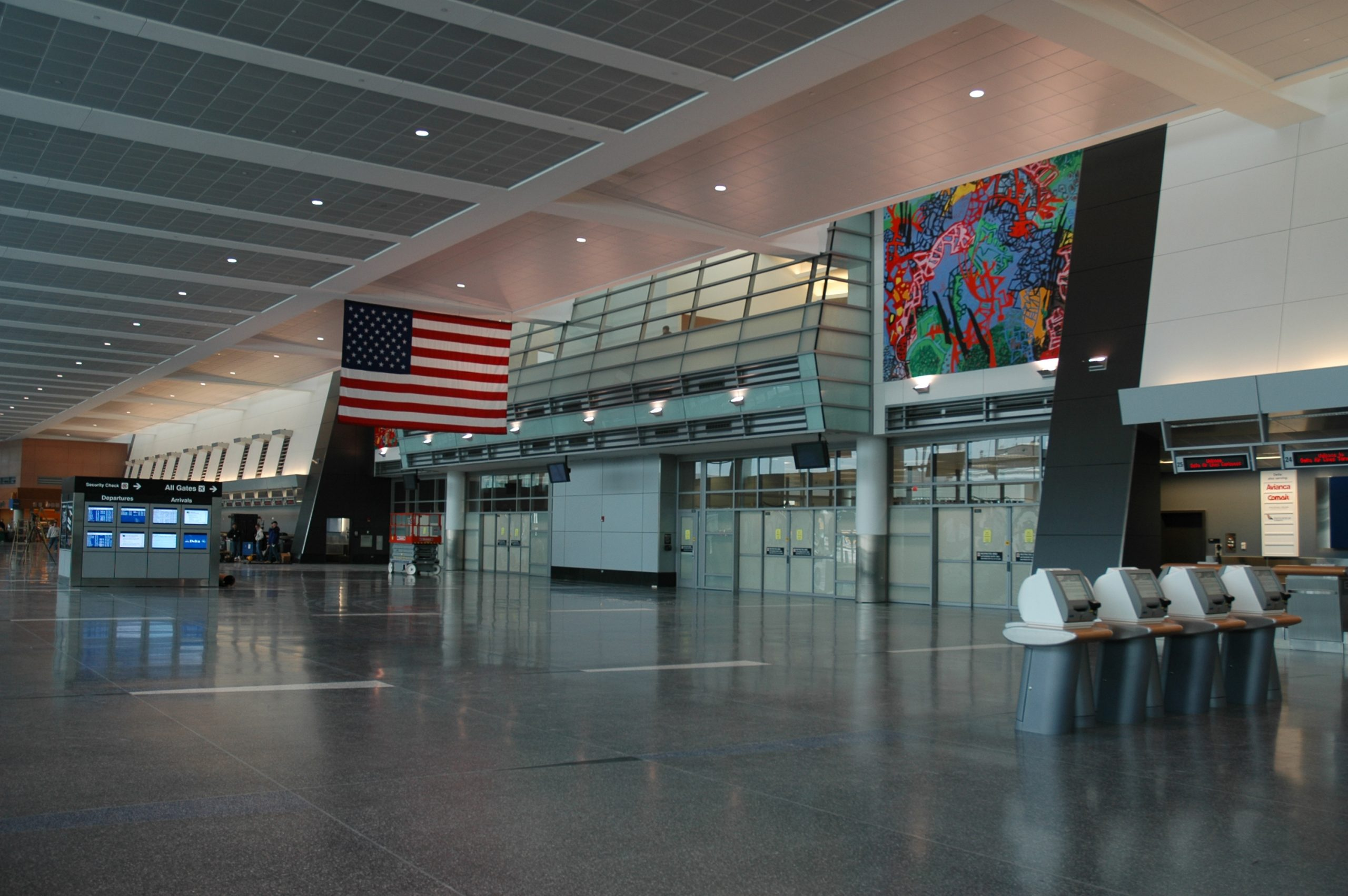 """Delta Airlines Terminal in Logan Airport: """"A Small Gain in Altitude"""" 2005"""