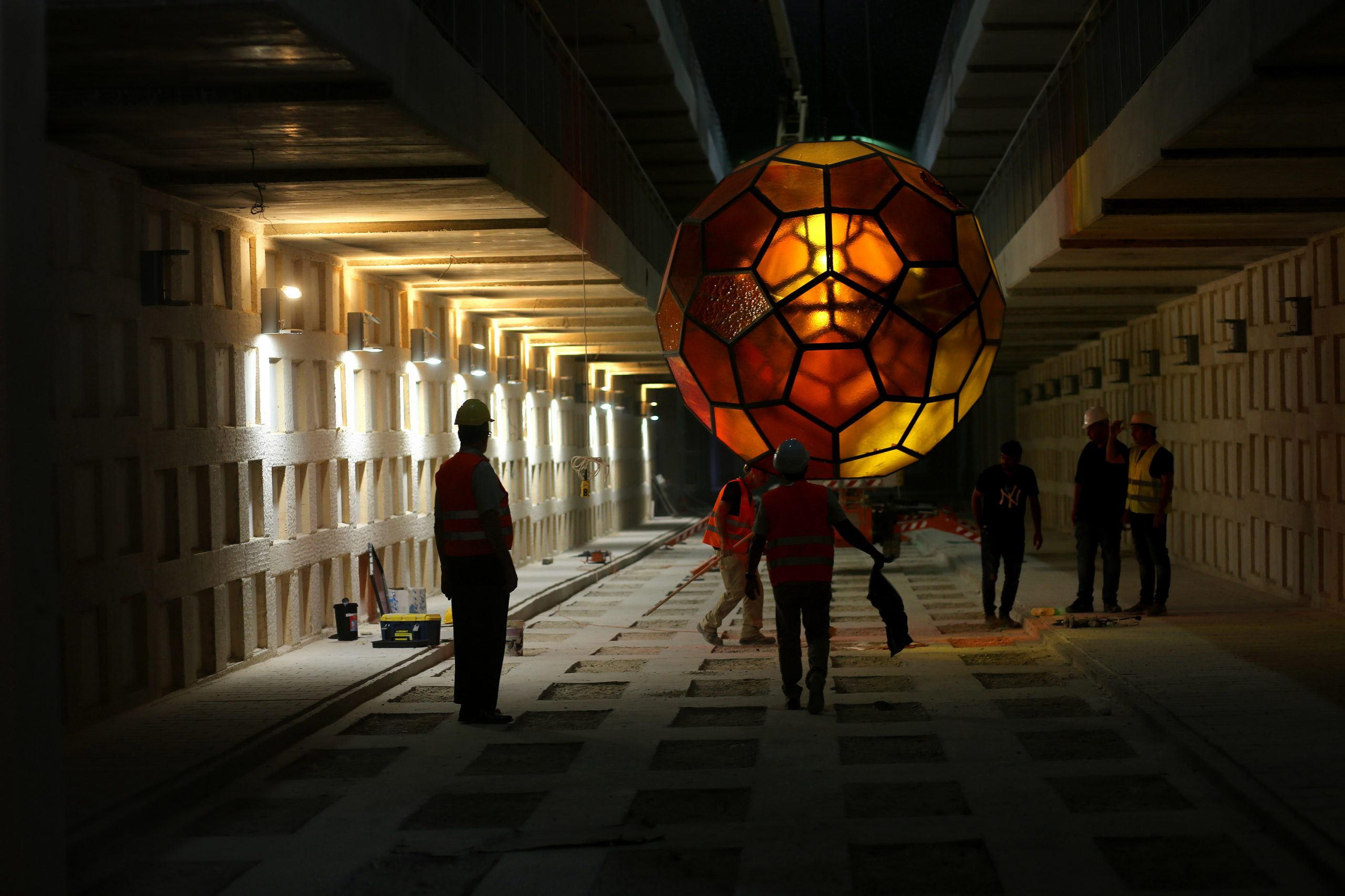 Art for eternity | Monumental spheres of light for the world's largest underground cemetery in Jerusalem