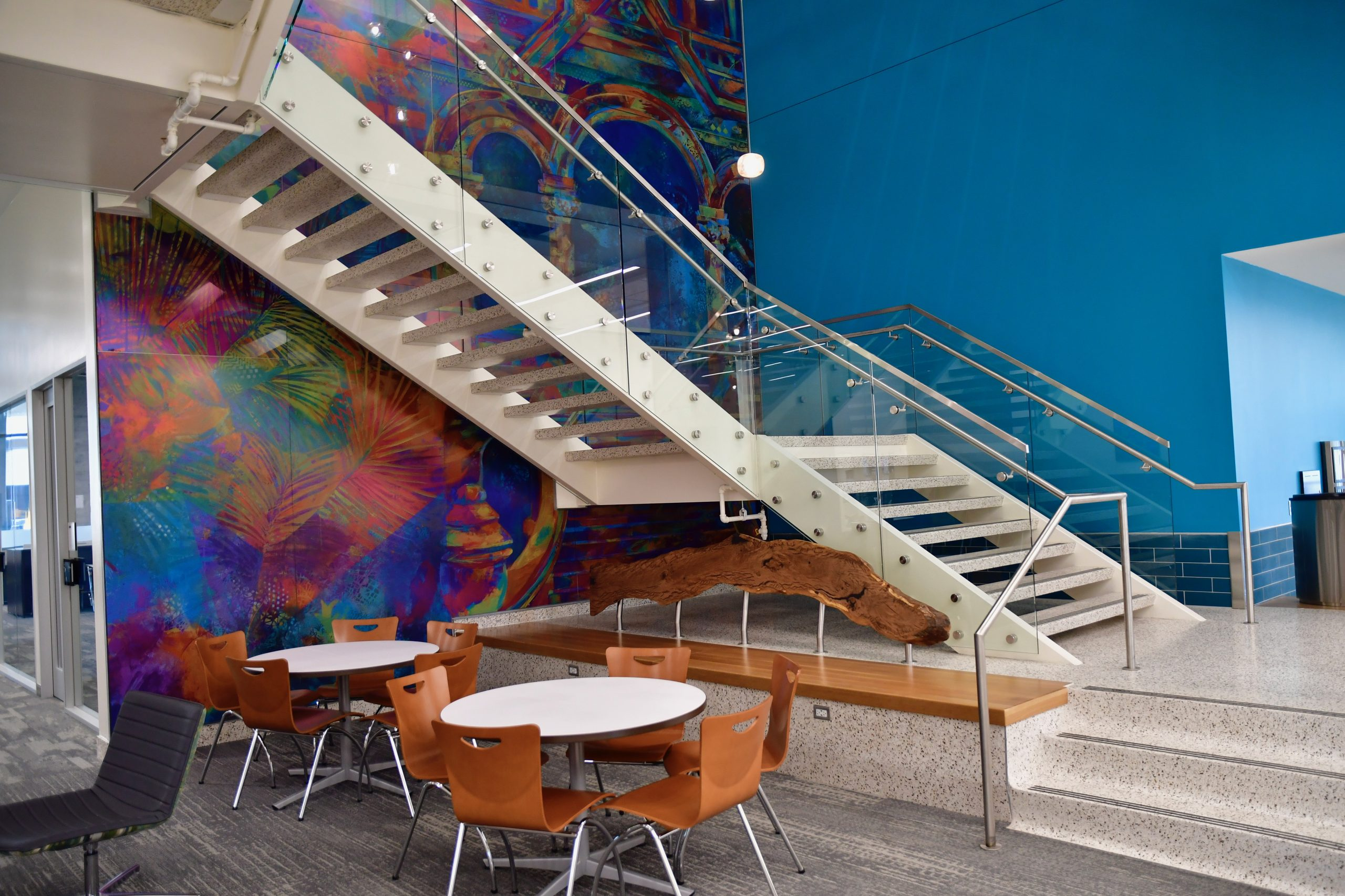 University of Texas Medical Branch Health Education Center – Feature Stairwell