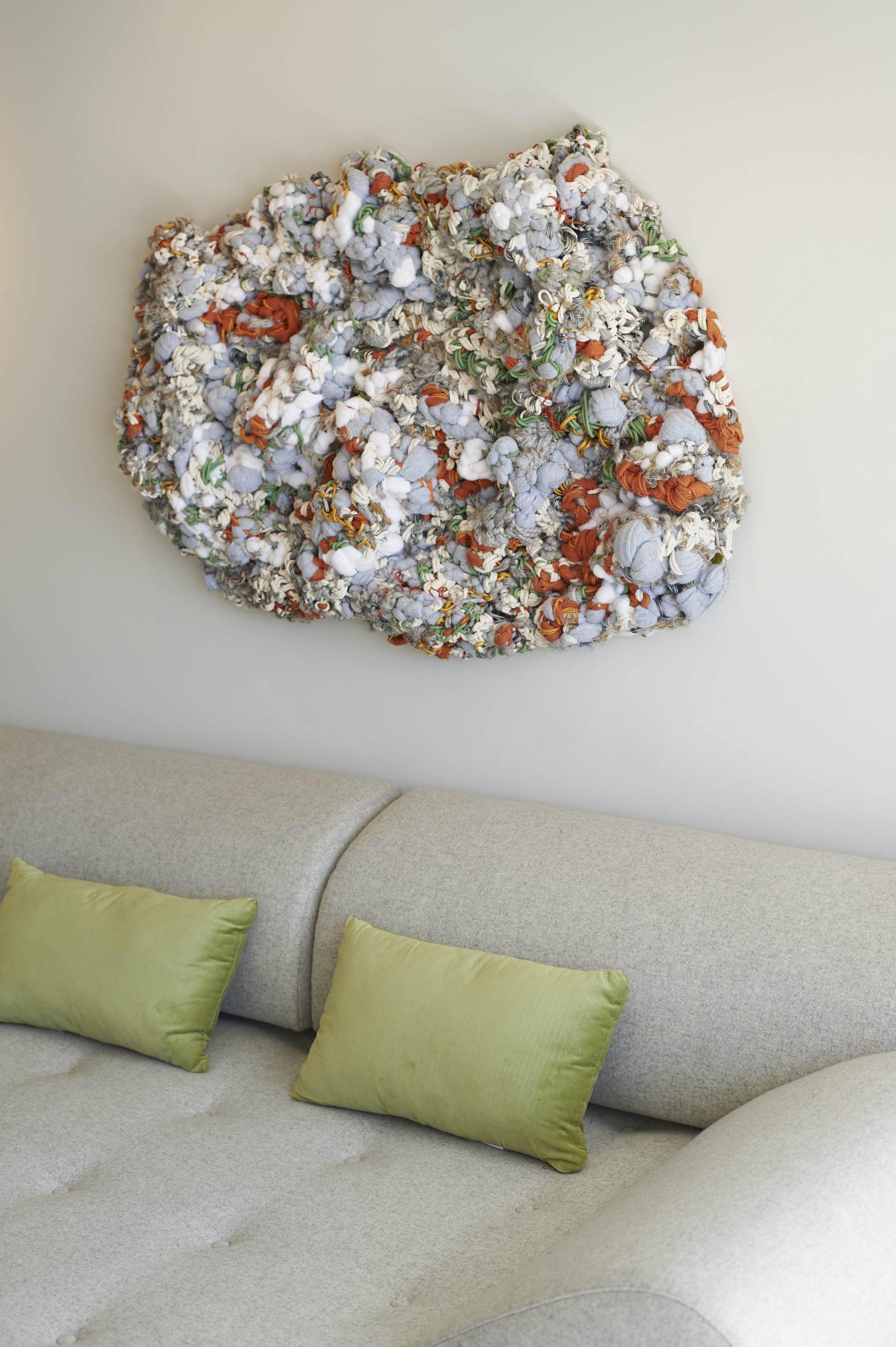 """Ocean Avenue Penthouse: """"Cumulous"""" Fiber Sculpture"""