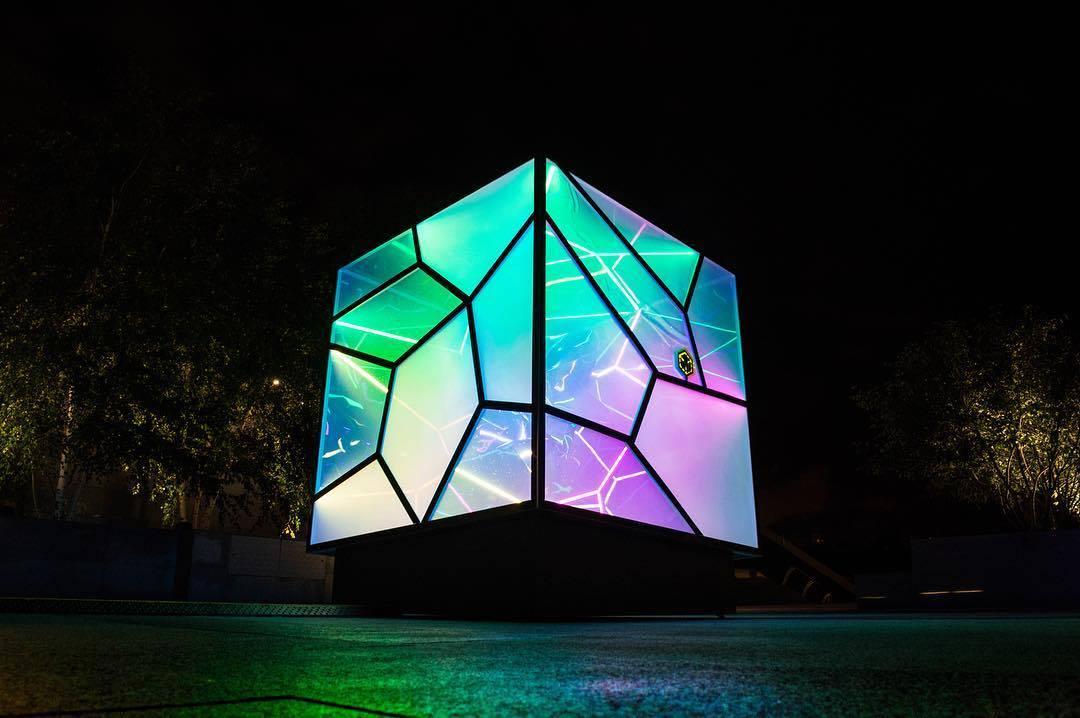 CUBED / UNCUBED light sculpture