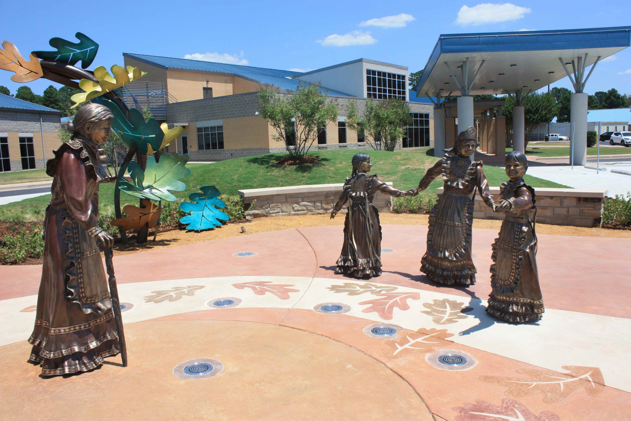 Choctaw Nation Health Care Center Sculpture Installation