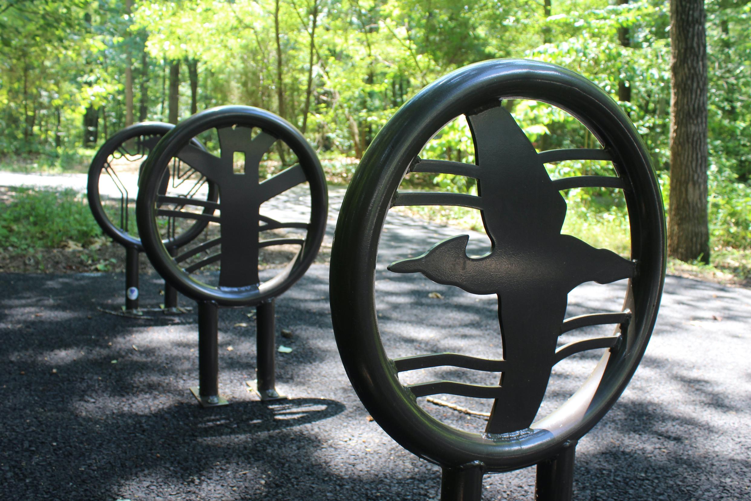 Pileated Woodpecker – Bicycle Racks