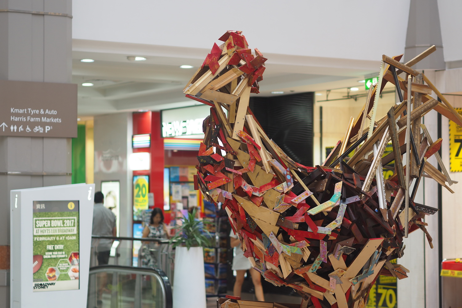 Chinese New Year Rooster, Public Sculpture, MIRVAC