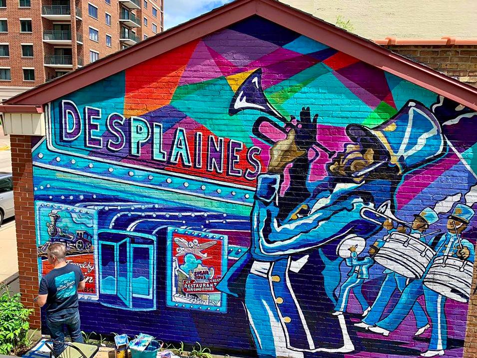Des Plaines History Center Mural