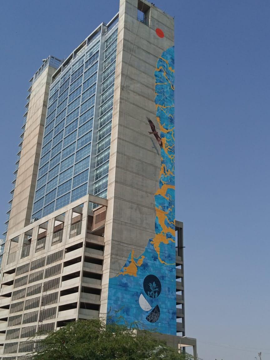 Rising Blue- Karachi's Centerpoint building