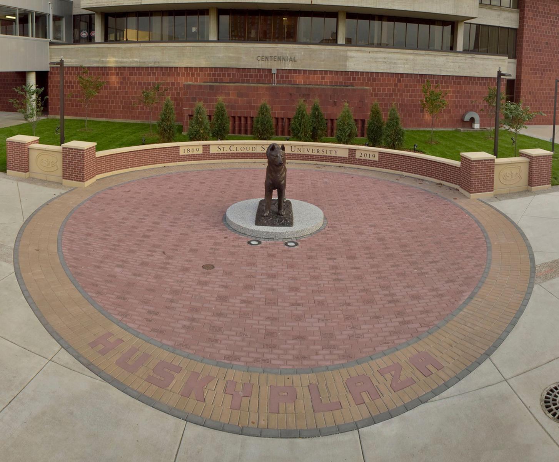 Husky Mascot, Husky Plaza