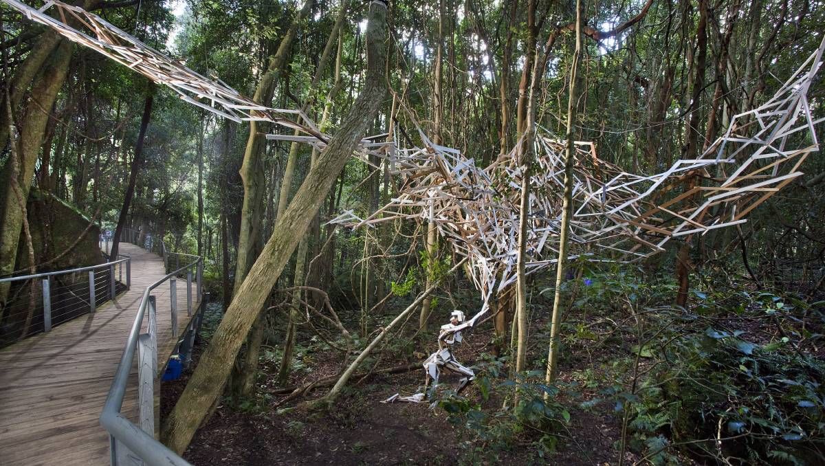 A Canopy of Thoughts, First Prize, Sculpture at Scenic World 2015