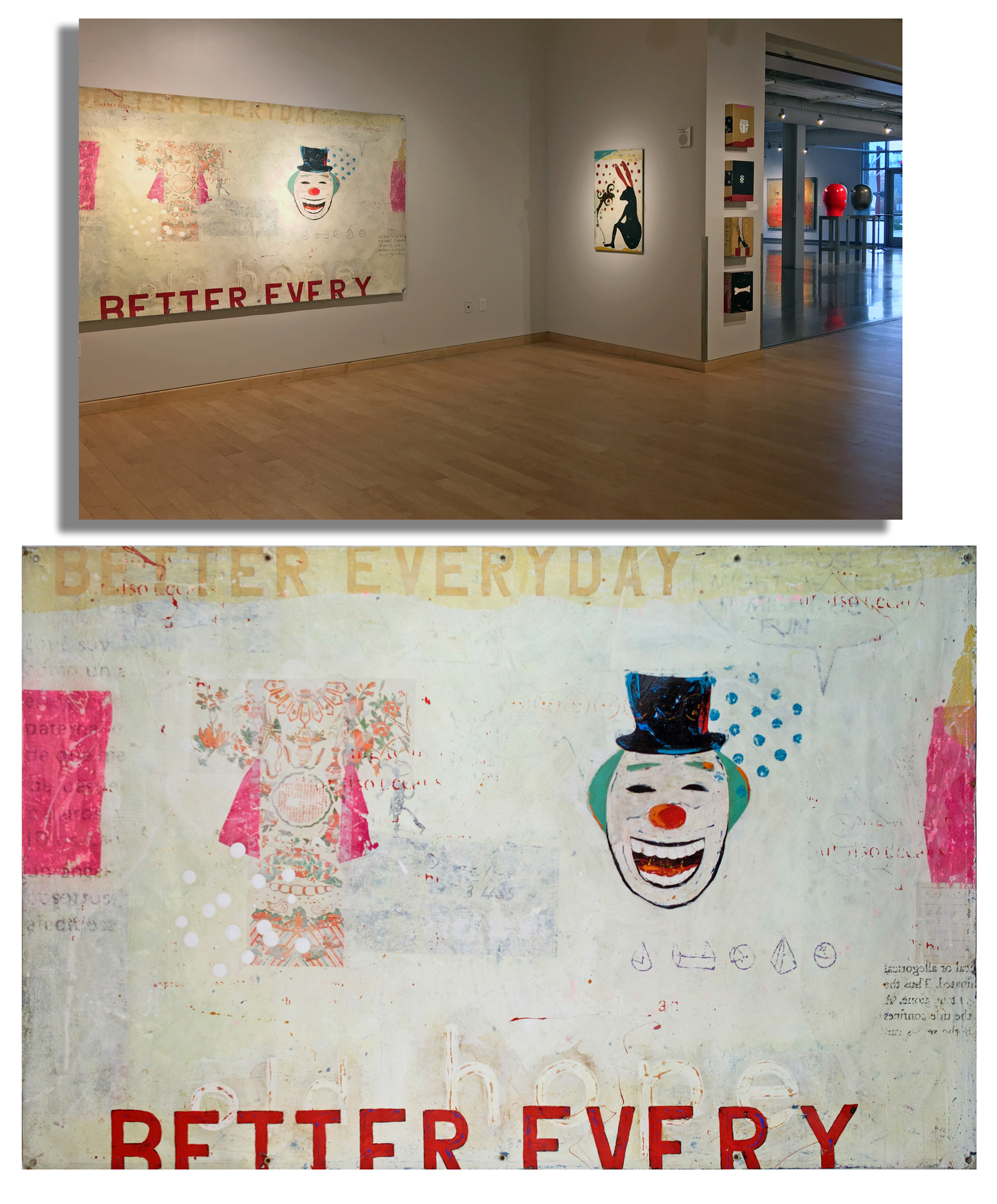 American Vernacular, A solo exhibition of paintings at the University of Arkansas, 2017.