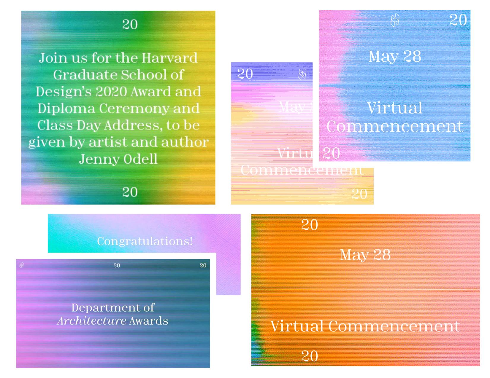 Harvard Graduate School of Design: Virtual Commencement