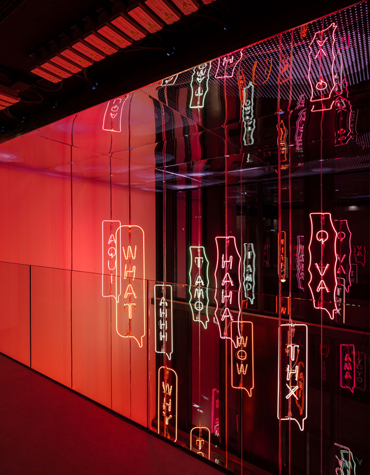 YOYO, permanent neon light art installation