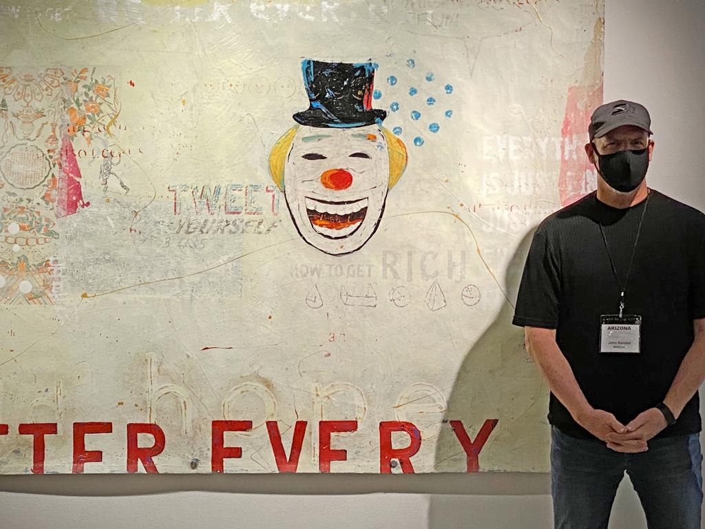 """Hallowed Clown"", Arizona Biennial, 2020."