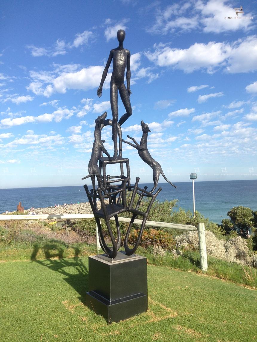Cast bronze sculpture,Ayad Alqaragholli,Sculpture by the Sea Bondi