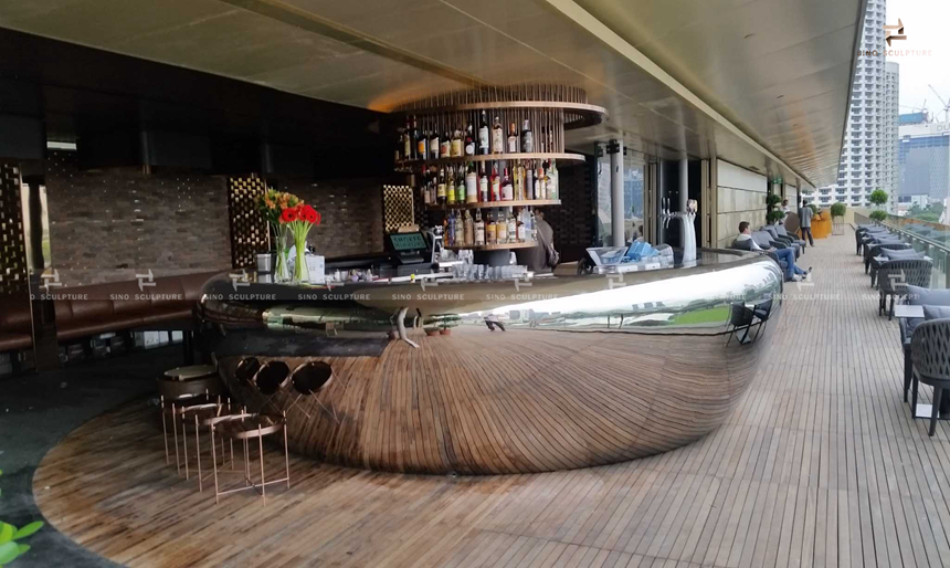 The Bar counter for Singapore national gallery, Smoke & Mirrors Bar