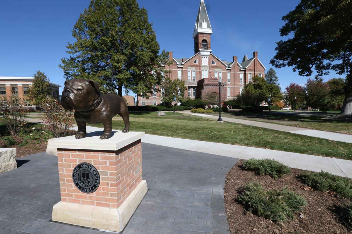 Bulldog Mascot, Bulldog Plaza