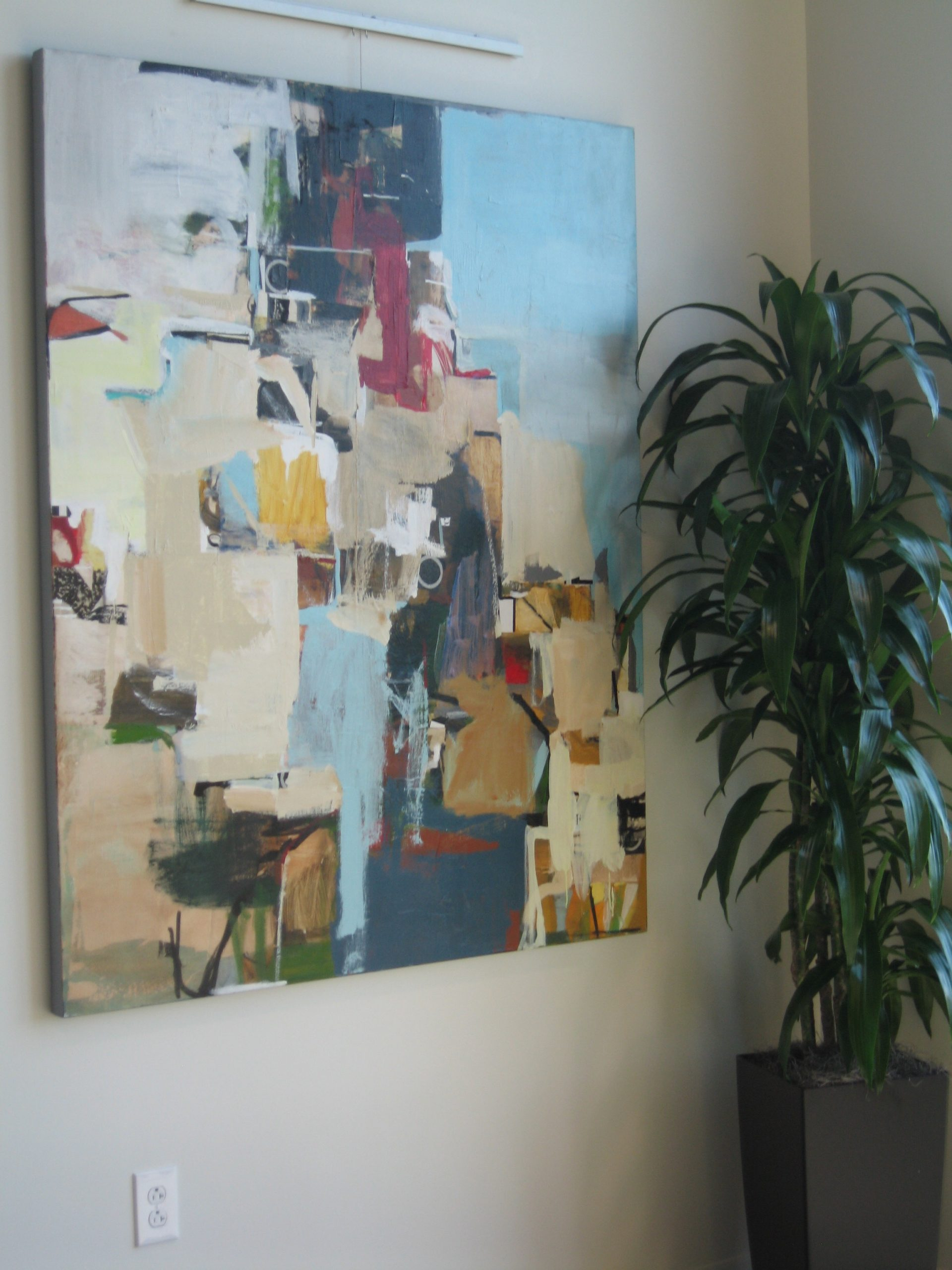 Bold and Striking Large Abstract Painting
