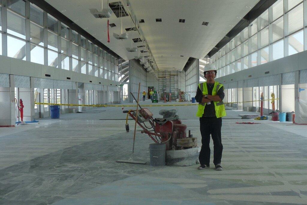 Phoenix Sky Train Station Terrazzo Floor