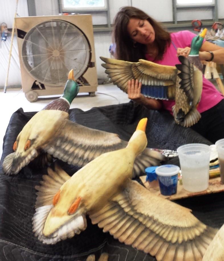 Hanging Duck Decoy Sculptures