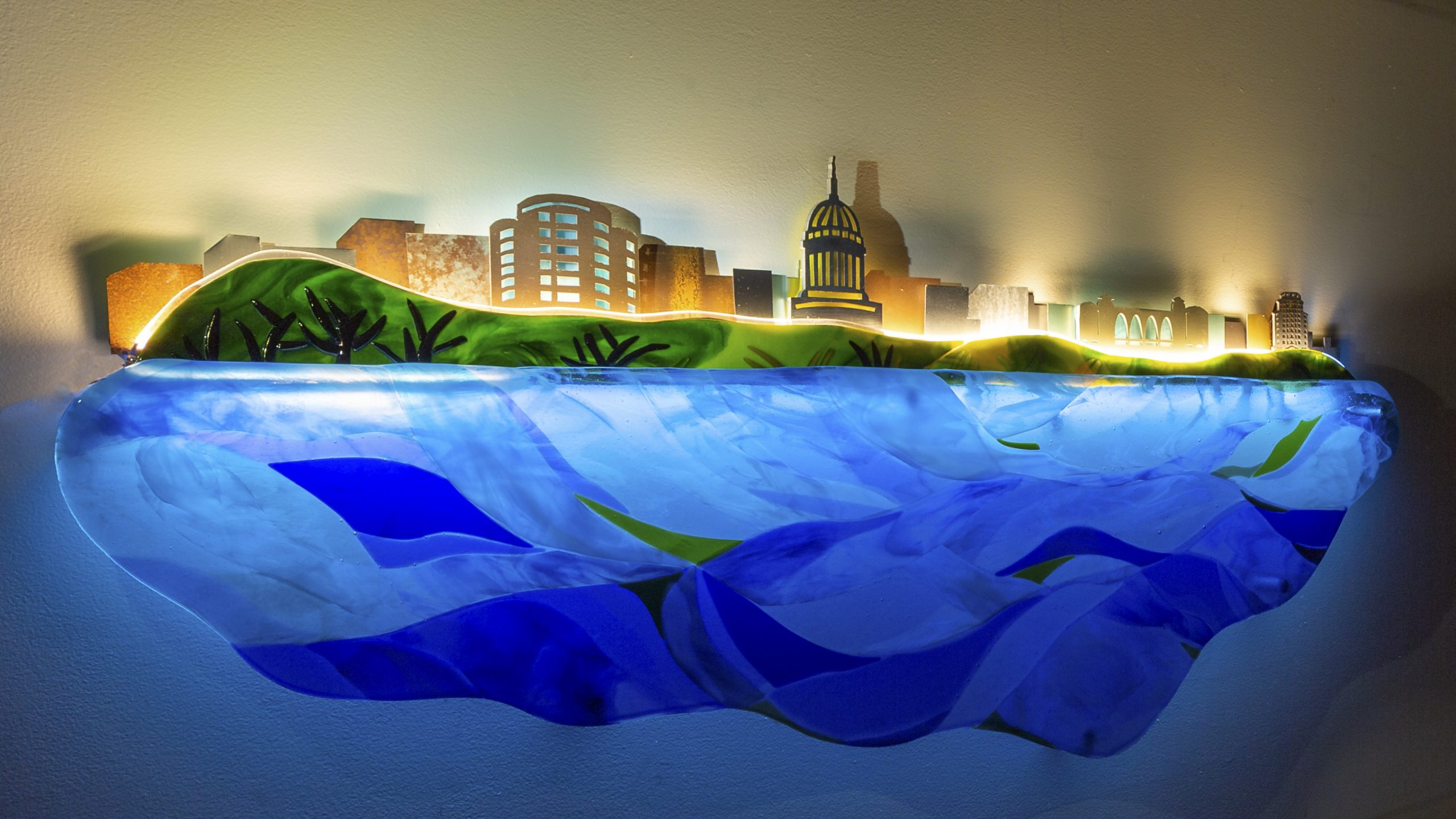 A Place to Call Home. Lobby mural for WI Housing Preservation Corporation