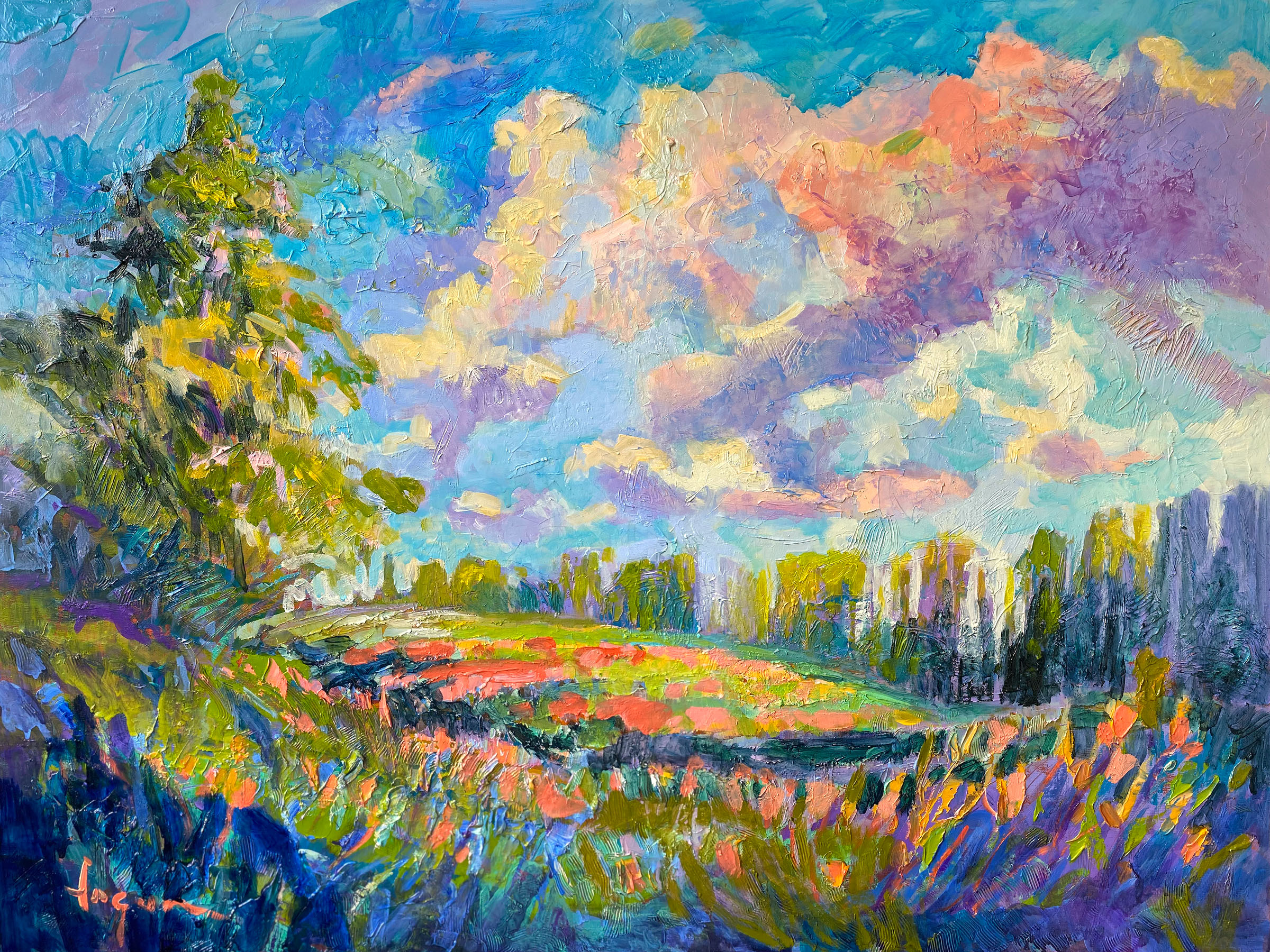 Inspirational Landscape Murals Uplift & Soothe. Diptychs, Triptych Oil Paintings & Canvas Giclees
