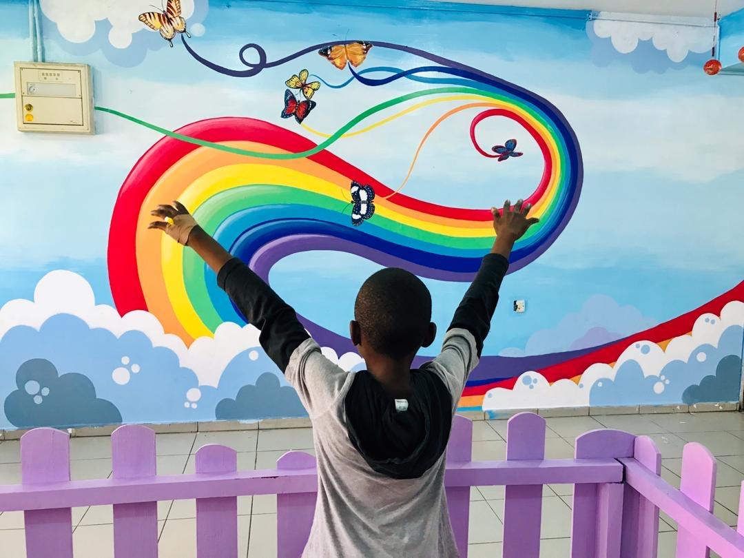 Rainbows in the Clouds- Lagos University Teaching Hospital Pediatric Mural