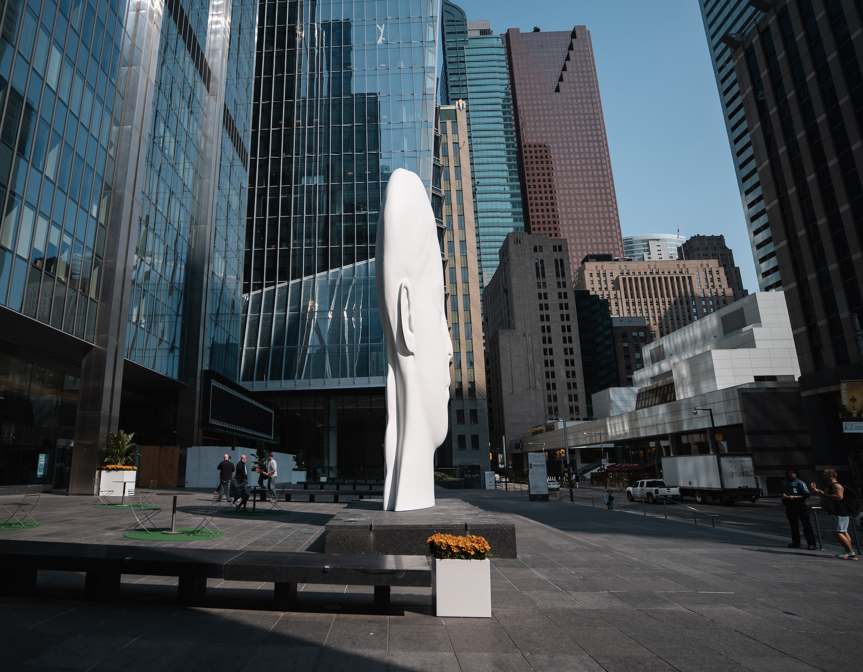 Jaume Plensa's Sculpture 'Dreaming' in Toronto's Financial District Canada