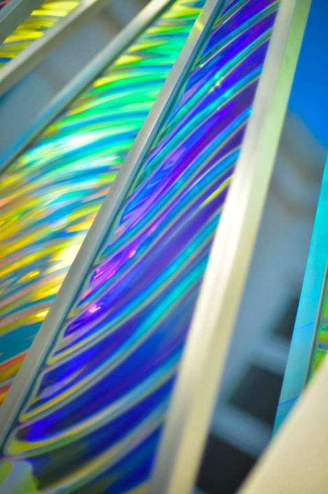 Colored Reflections- Kinetic Dichroic Entry