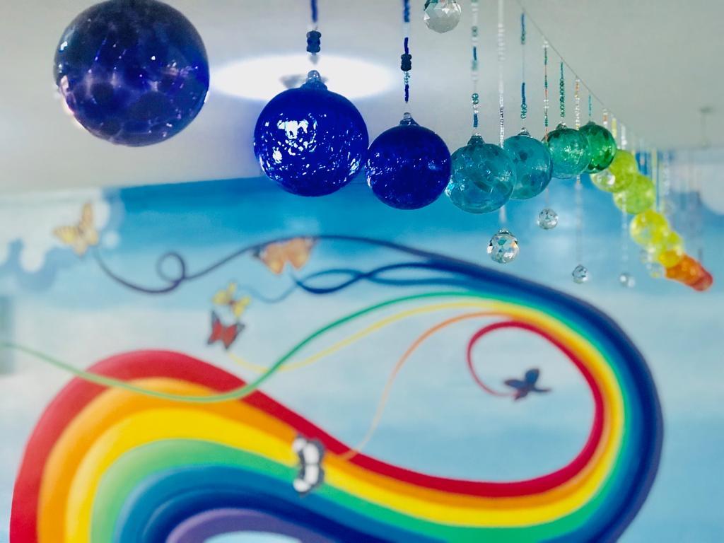 Rainbows in the Clouds- Lagos University Teaching Hospital Pediatric Mural - CODAworx