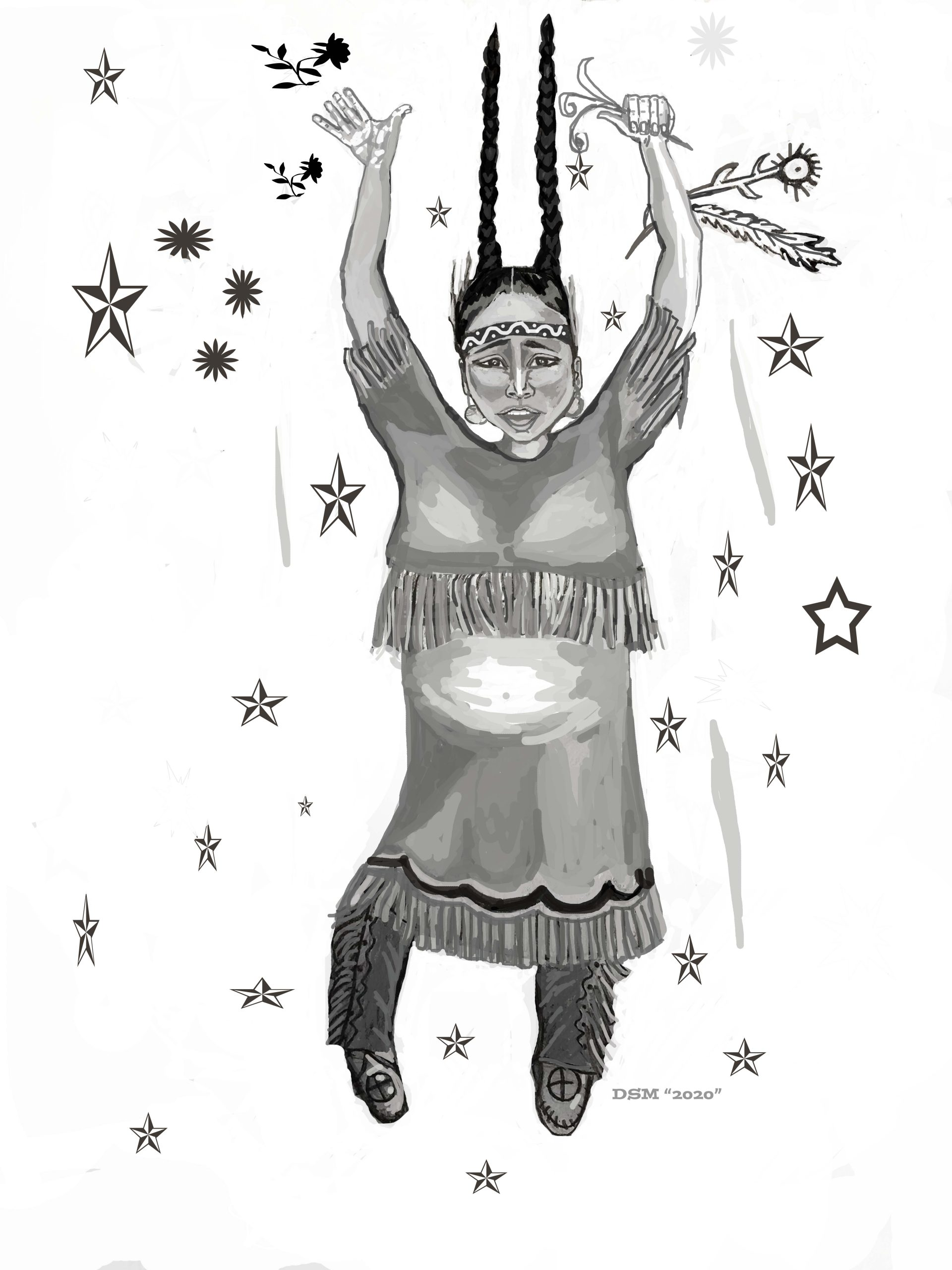 """Three Sisters"" A  Rain Keeping Sculpture  collaboration of Alison Newsome and  Native American Wampanoag  Artist Deborah Spears Moorehead"