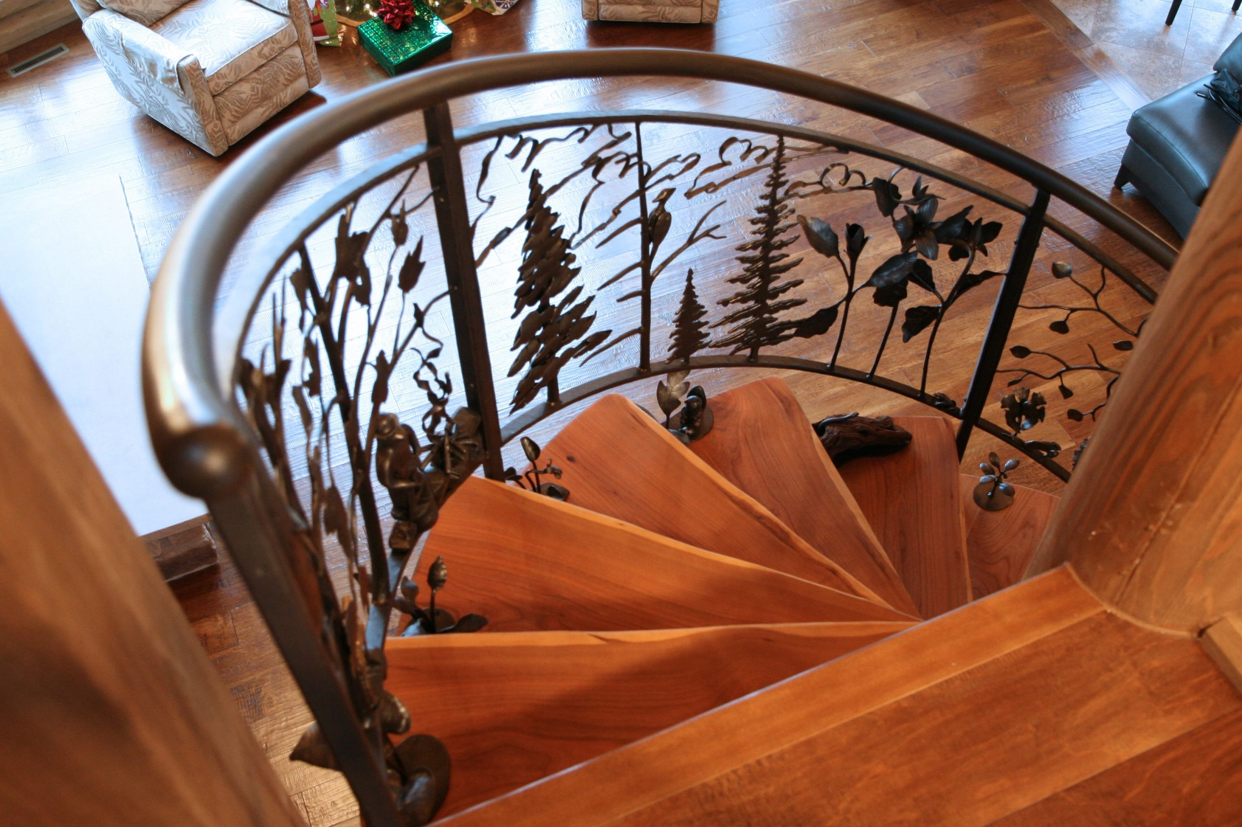 Northwoods Spiral Staircase